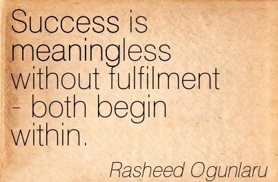 success contement